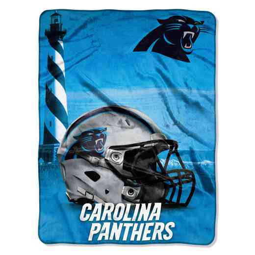 1NFL071030018RET: NW NFL HERITAGE SILK THROW, PANTHERS